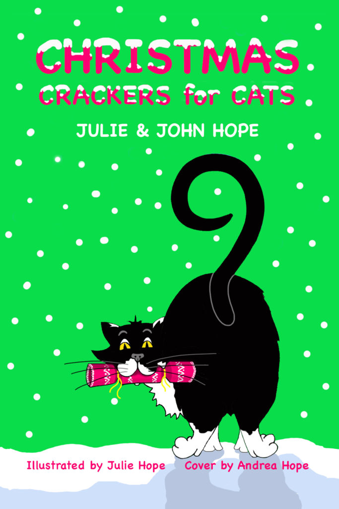 Christmas Crackers for Cats front cover, by John and Juie Hope