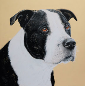 Hand drawn dog portrait by Cato9tales