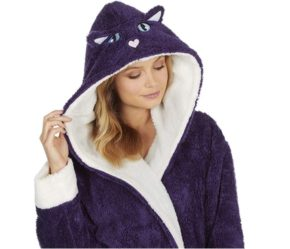 Cosy Cat hooded dressing gown